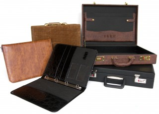 Suitcases and file folders