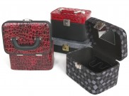 Cosmetic suitcases in various colors