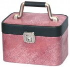 Pink cosmetic suitcase